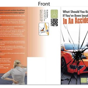 chiropractic brochure, personal injury marketing, pi marketing, chiropractic brochure, print design