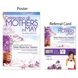 chiropractic posters, boost referrals, chiropractic referral cards, marketing materials, mothers day