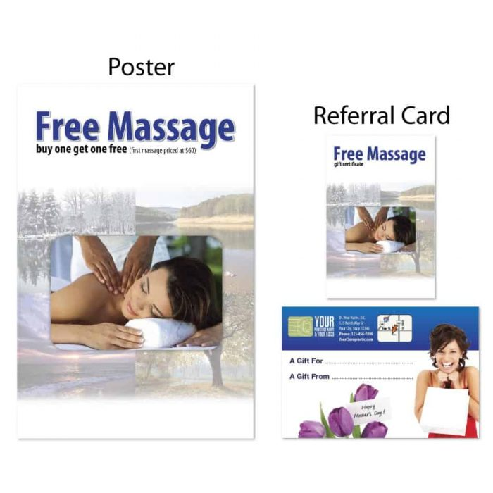 chiropractic posters, boost referrals, mothers day marketing, chiropractic referral cards, marketing materials