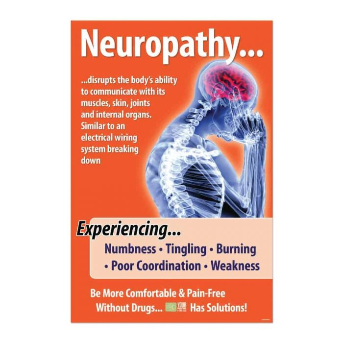 chiropractic posters, neuropathy poster, print design, online print store