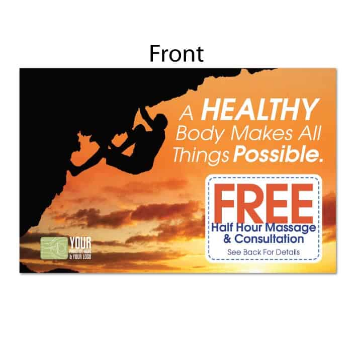 48 Postcard Healthy Body Justus Chiropractic Marketing