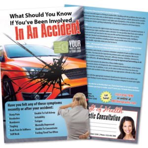 auto accident flyer, pi flyer, chiropractic flyer