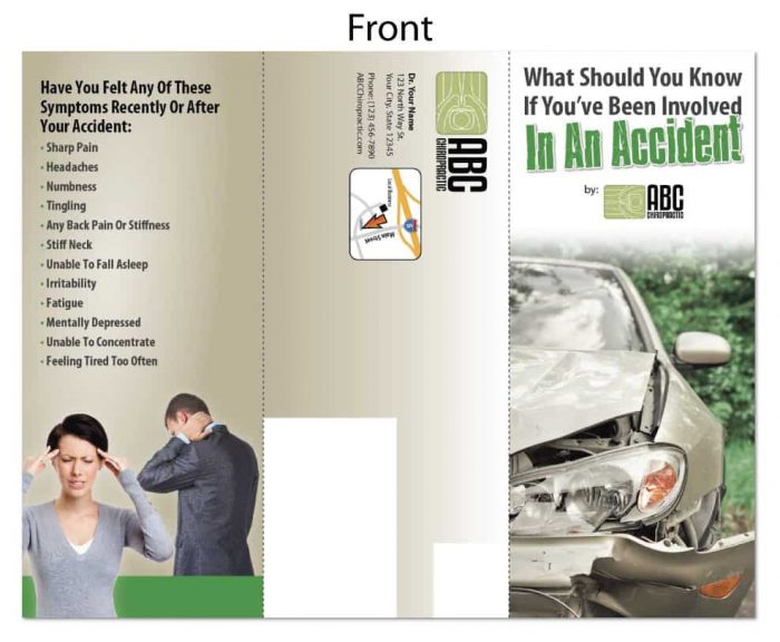 chiropractic brochures, personal injury brochures, pi brochures