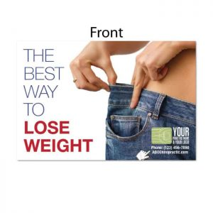 chiropractic postcards, weight loss postcards, diet postcards, weight loss cards, print materials