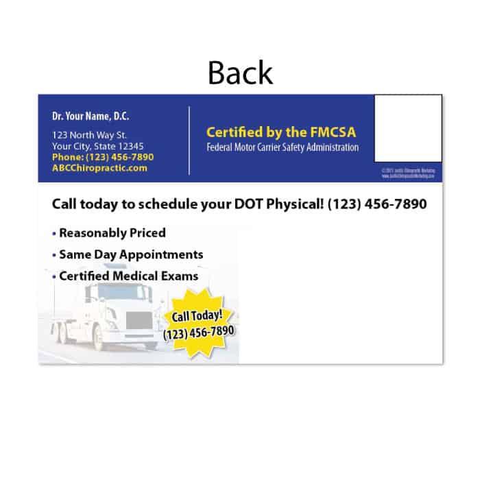 128 Postcard Dot Physical Exams Justus Chiropractic Marketing