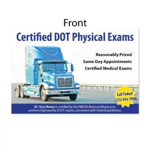 dot physical exam postcard