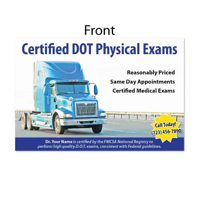 128 postcard dot physical exams justus chiropractic marketing rh store justuschiropracticmarketing com dot physical exam guidelines pdf cdl physical exam guidelines