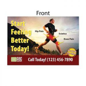 chiropractic postcard, active postcard, running postcard, ailment postcard