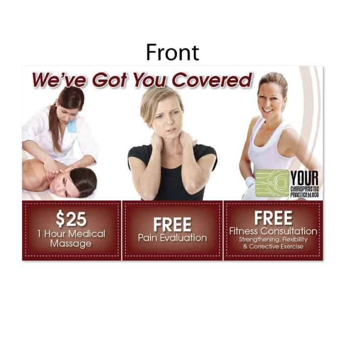 chiropractic postcard, fitness postcard,