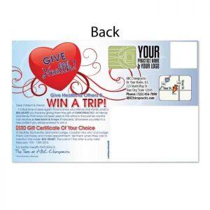 chiropractic postcards, online print store
