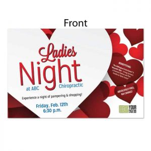 chiropractic postcards, online print store, Ladies Night