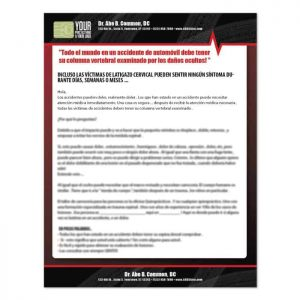 pi letter, spanish chiropractic letter, pi marketing, auto accident marketing