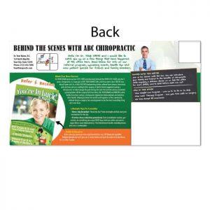 chiropractic postcards, online print store, seasonal postcard