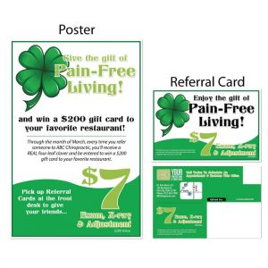 boost referrals, chiropractic posters, chiropractic referral cards