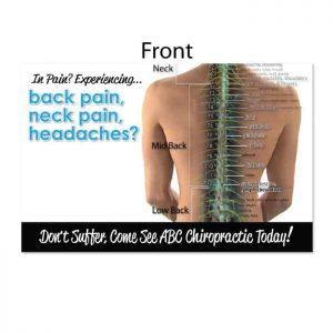 chiropractic postcard, new patient postcard, print materials, online print store