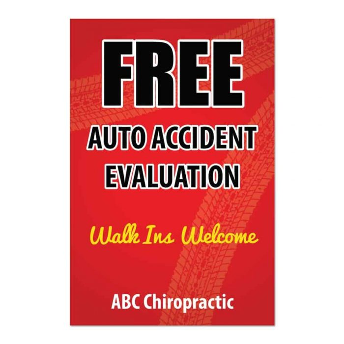 auto accident print materials, outdoor sign, pi sign