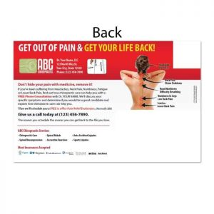 chiropractic postcards, new patient postcards, online print store