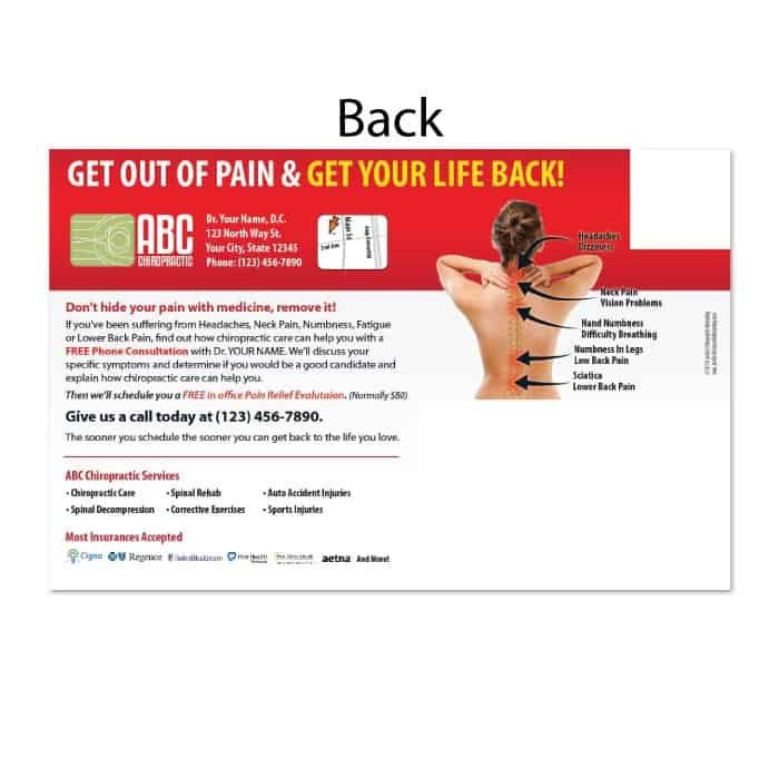 chiropractic postcards, new patient postcards, online print store