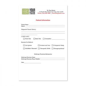 rx pad, note pad, chiropractic print materials, online print store