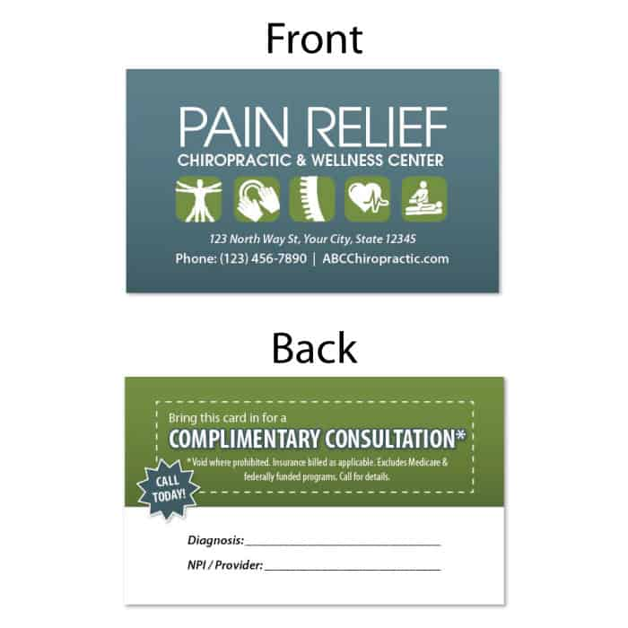 1223. Business Card - Pain Relief