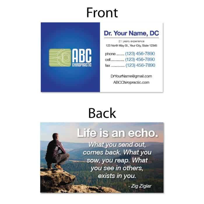 1228. Business Card - Echo | JustUs Chiropractic Marketing