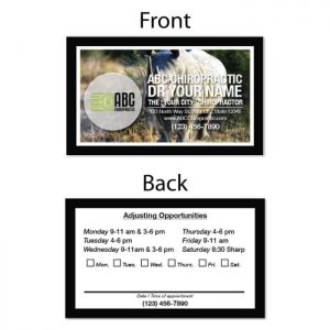 chiropractic business card, print design, online print store