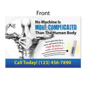 chiropractic postcard, recall postcard, reactivation postcard