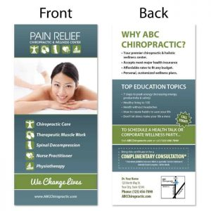 chiropractic rack card, print materials, online print store