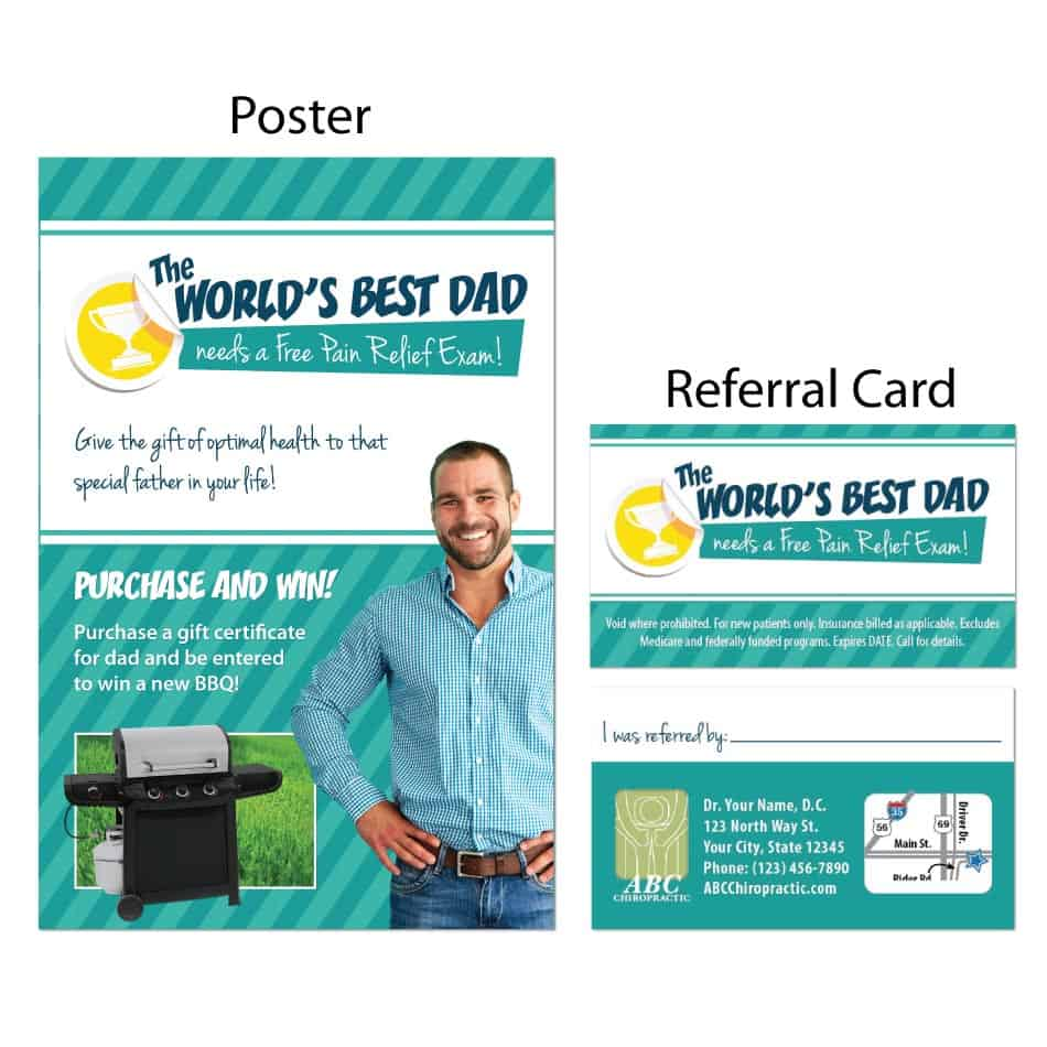 Mar 446 Advertising And Promotions: Chiropractic Referral Booster - World's Best Dad