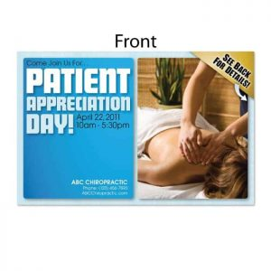 patient appreciation postcard, existing patient postcard
