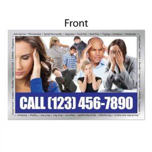 new patient postcard, ailment postcards, wellness postcard, chiropractic postcard