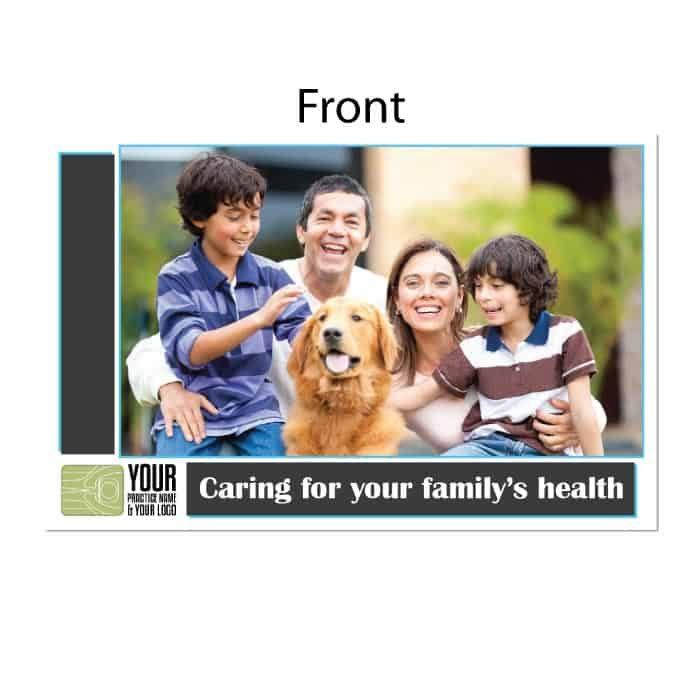 new patient postcard, wellness postcard, family chiropractor