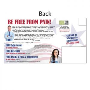 new patient postcard, existing patient, reactivation postcard, pain postcard