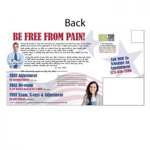 new patient postcard, existing patient, reactivation postcard, pain postcard