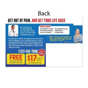 new patient postcard, ailment postcard, print materials, online print store