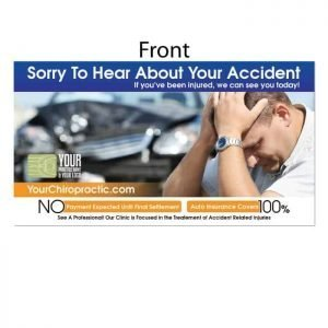 personal injury postcard, auto accident postcard, pi postcard, chiropractic postcard
