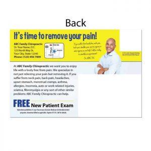 new patient postcard, chiropractic postcard, print materials, online print store