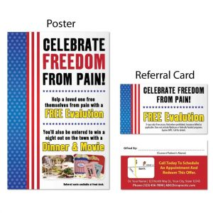 chiropractic print materials, boost referrals, poster, referral cards