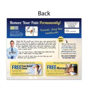 Chiropractic postcard, new patient postcard, eddm, direct mail