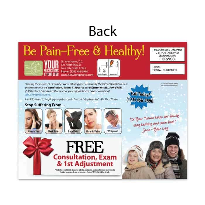 postcard-gift-of-health-back | JustUs Chiropractic Marketing