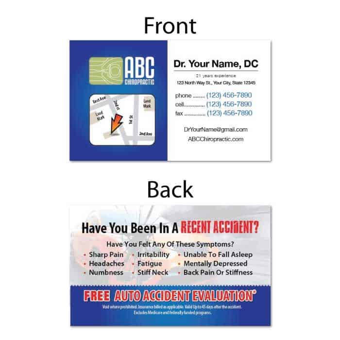 1229 business card recent accident justus chiropractic marketing business card recent accident colourmoves